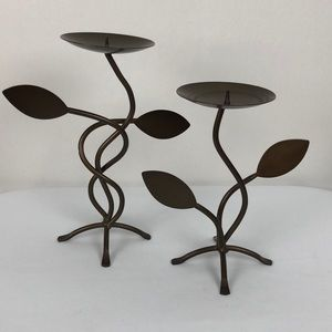 Other - 3/$25 Wrought Iron Candle Holder Set Home Decor